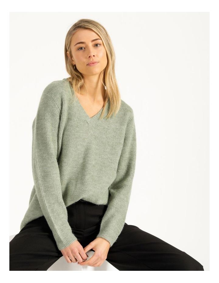 V-Neck Aline Knitted Jumper image 4