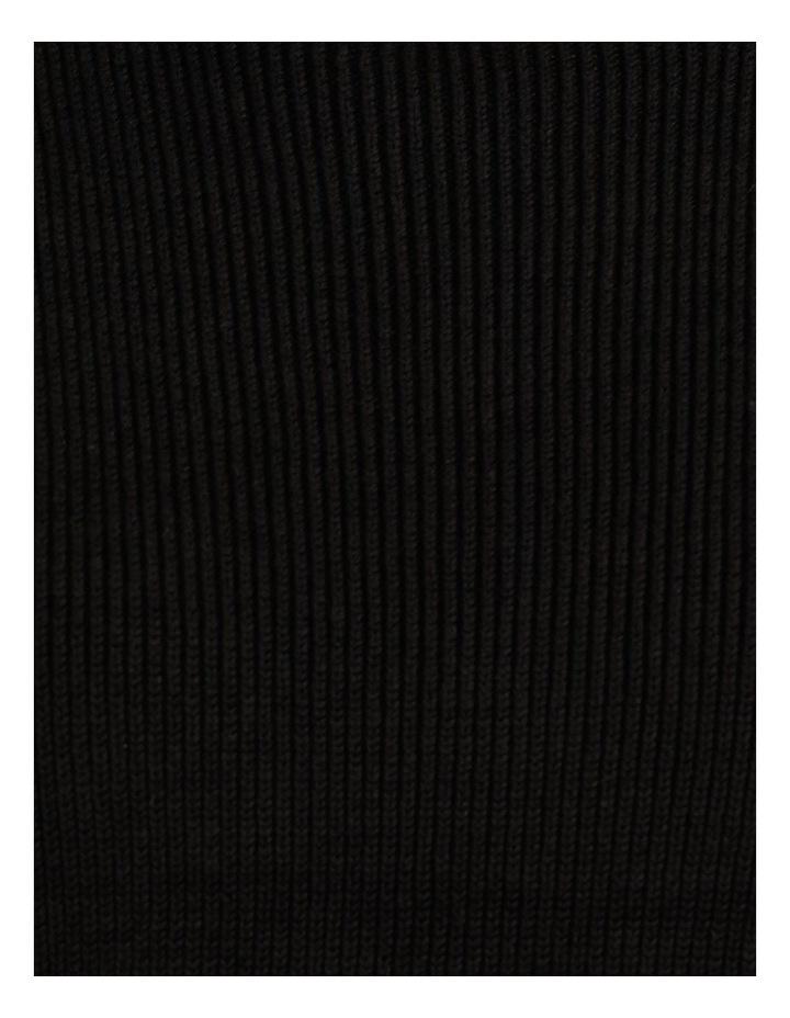 Ribbed Short Sleeve Sweater Black image 7