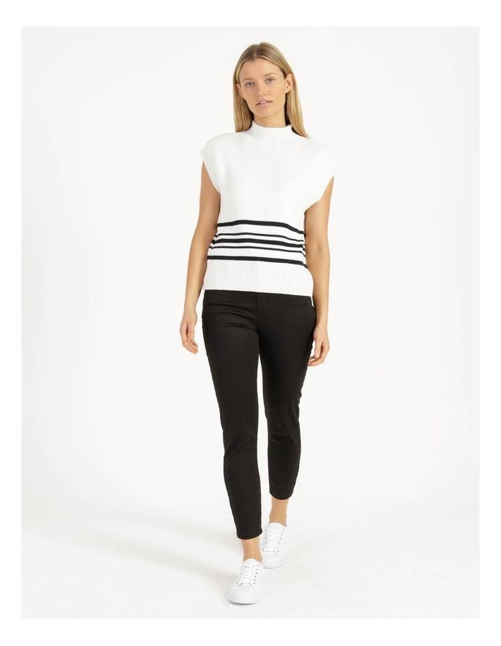 Ribbed Short Sleeve Sweater Stripe image 4