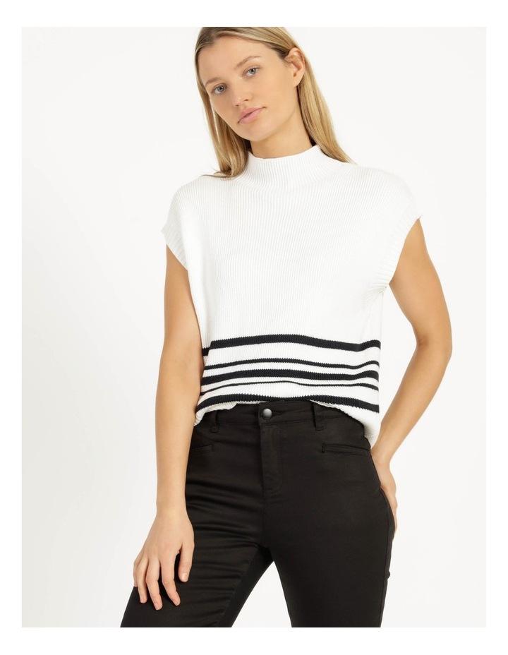 Ribbed Short Sleeve Sweater Stripe image 5