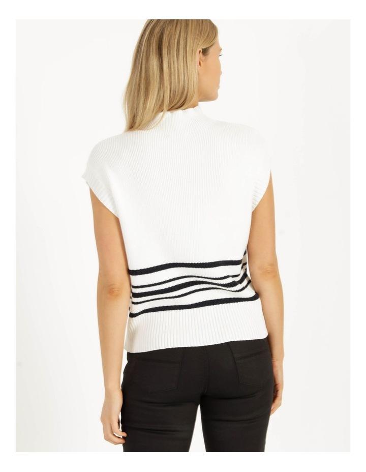 Ribbed Short Sleeve Sweater Stripe image 6