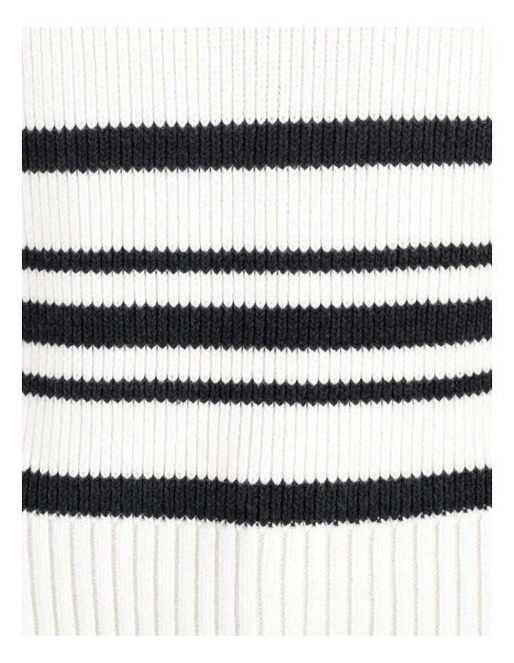 Ribbed Short Sleeve Sweater Stripe image 7