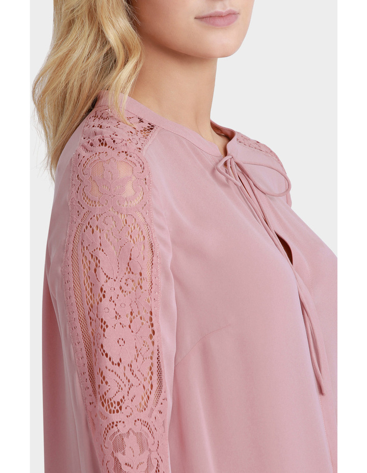 Lace Sleeve Tie Neck Blouse image 4