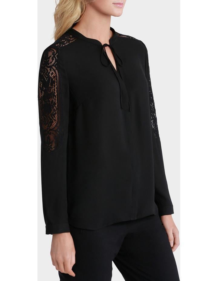 Lace Sleeve Tie Neck Blouse image 1