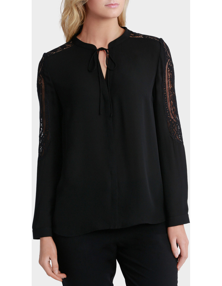 Lace Sleeve Tie Neck Blouse image 2