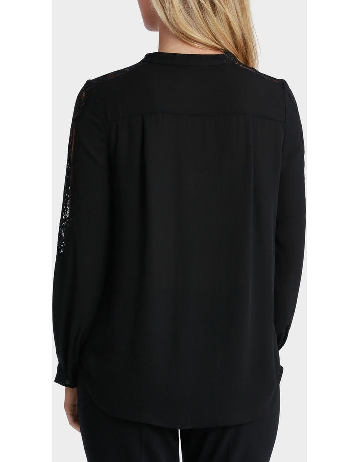 Lace Sleeve Tie Neck Blouse image 3