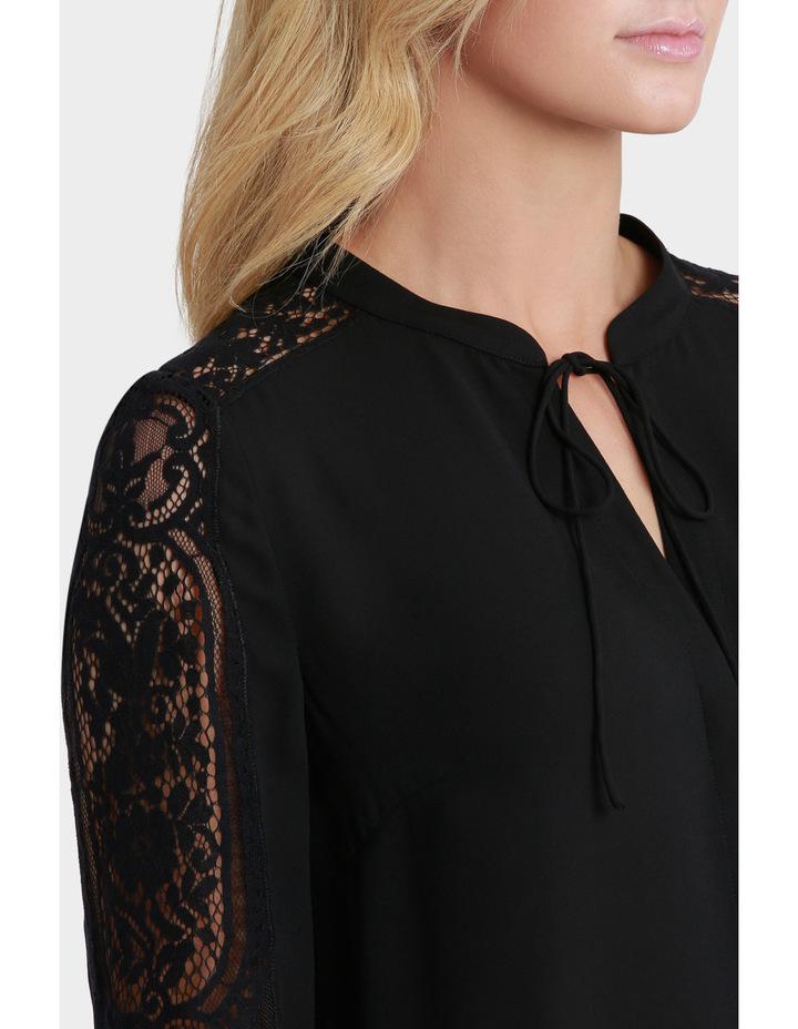 Lace Sleeve Tie Neck Blouse image 4