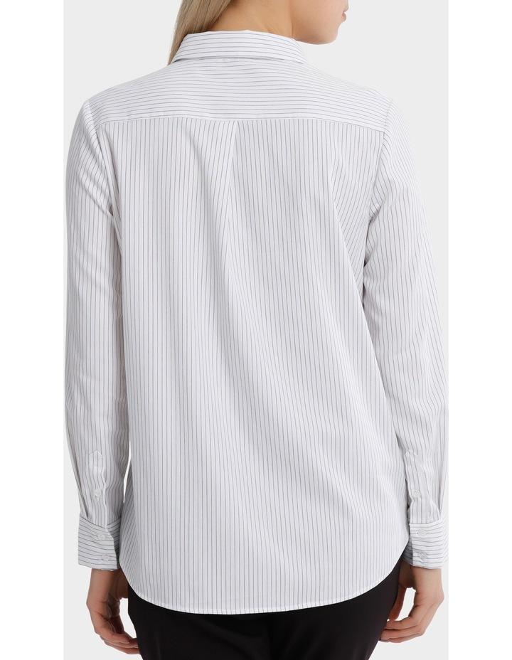 Pinstripe Ruffle Trim Shirt image 3