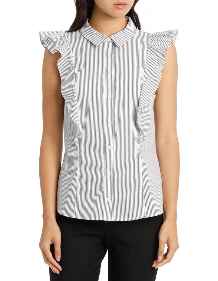 Ruffle Trim Shirt Stripe image 1
