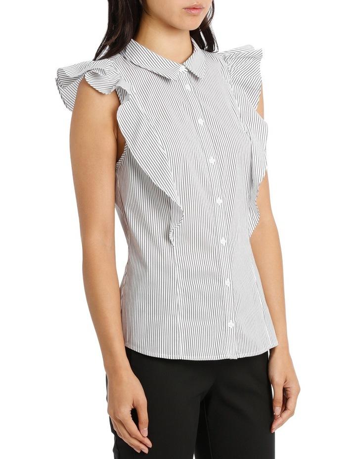 Ruffle Trim Shirt Stripe image 2