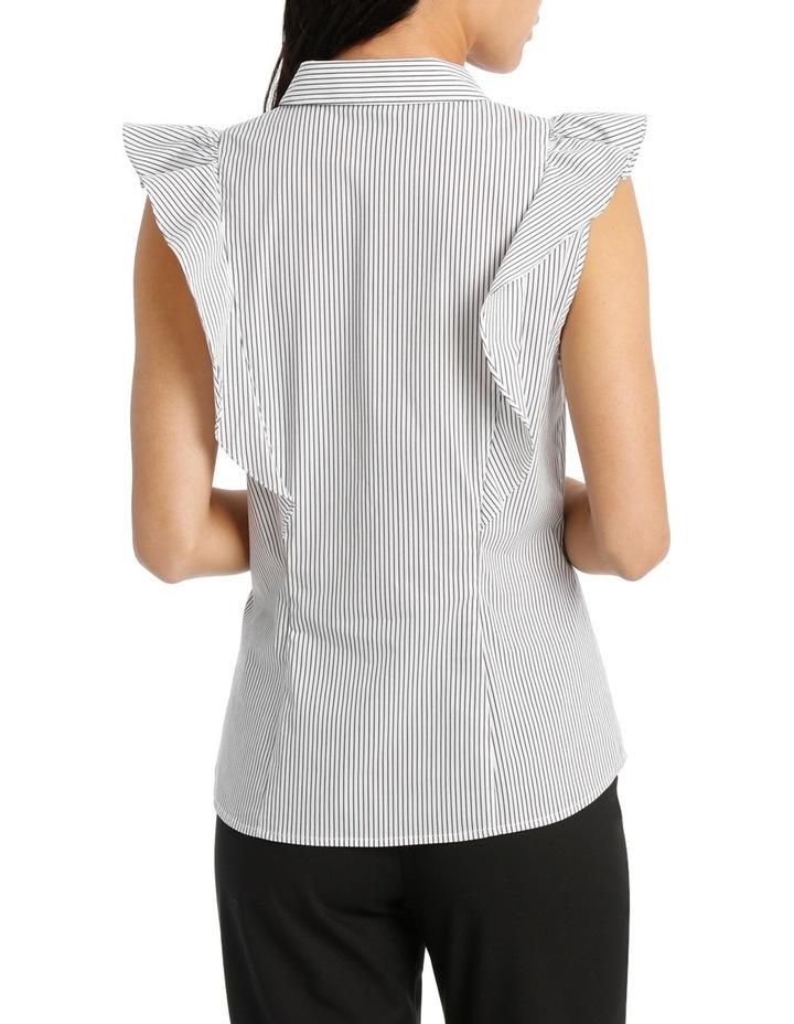 Ruffle Trim Shirt Stripe image 3