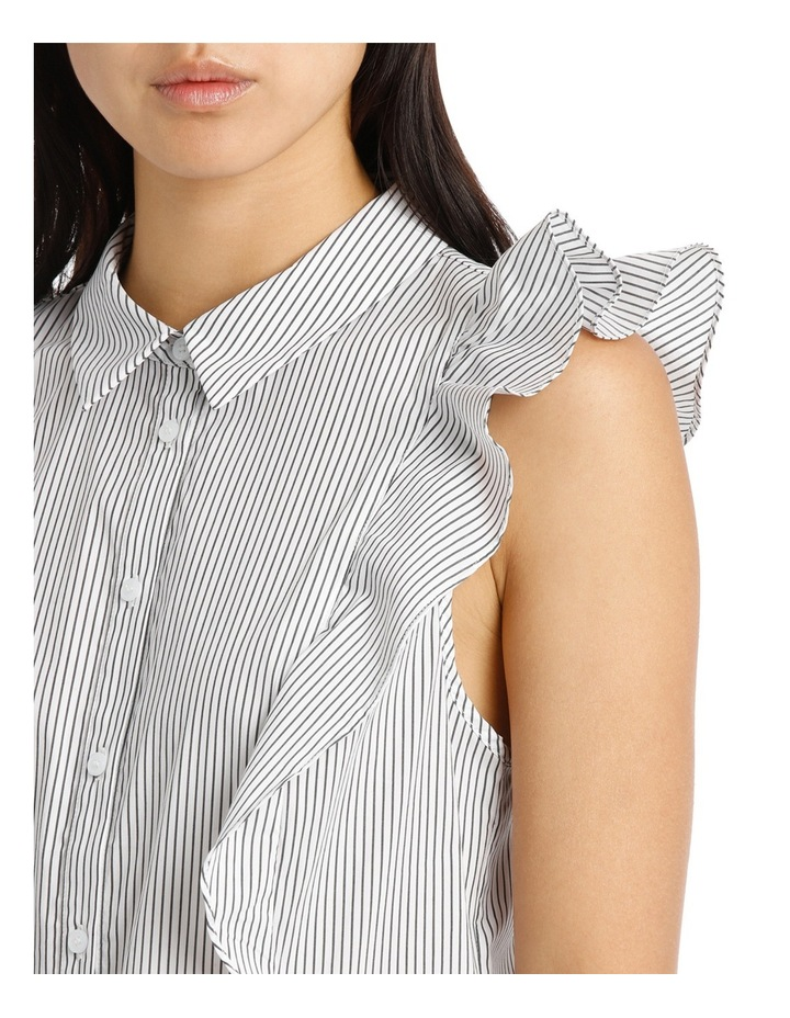 Ruffle Trim Shirt Stripe image 4