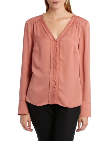 bd1003eef67 Basque BUTTON THROUGH BLOUSE