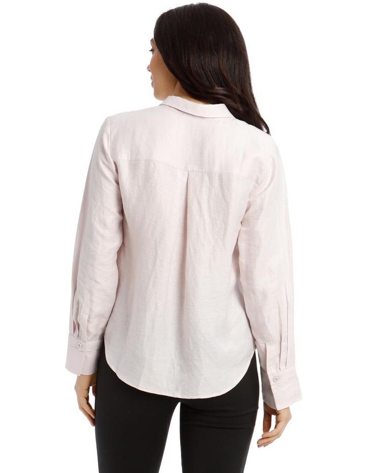 Linen Shirt - Mauve image 3