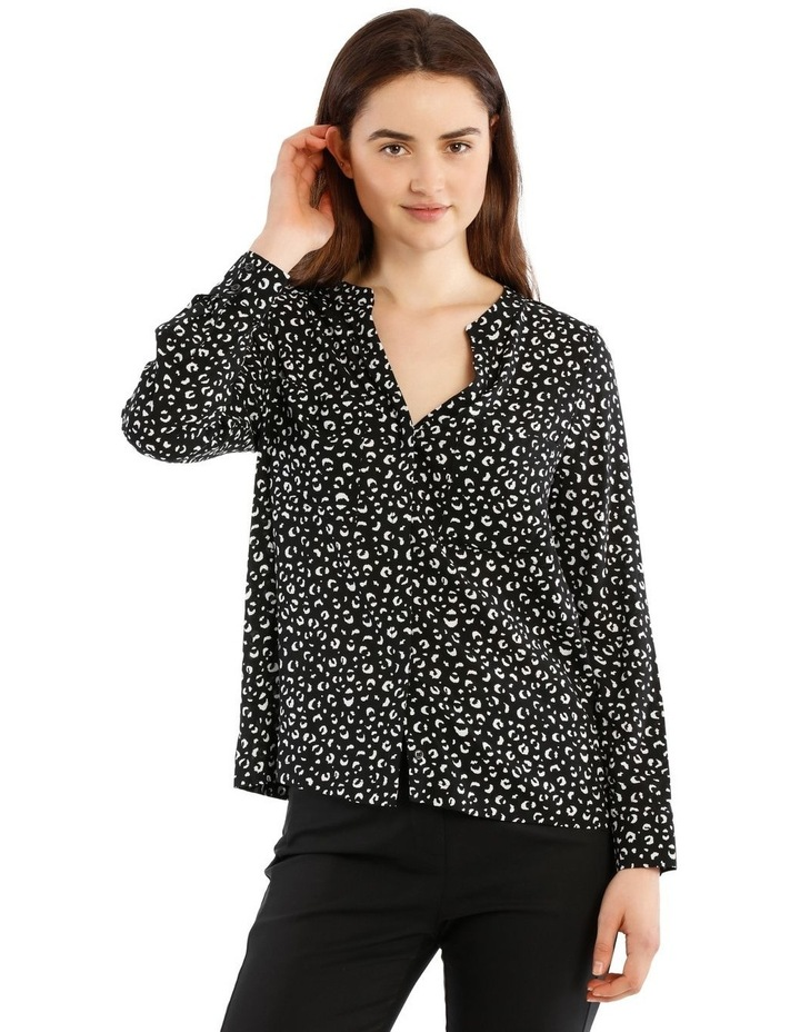 Collarless Double Pocket Shirt image 1