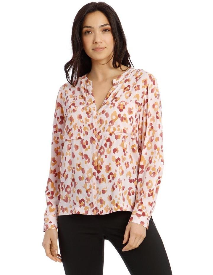 Collarless Double Pocket Shirt image 1
