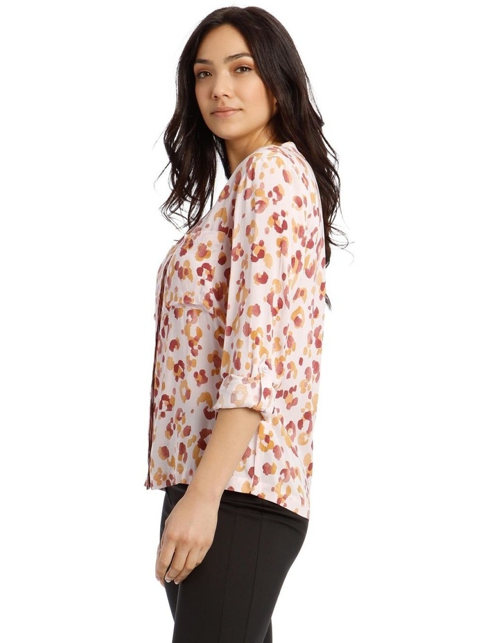 Collarless Double Pocket Shirt image 2