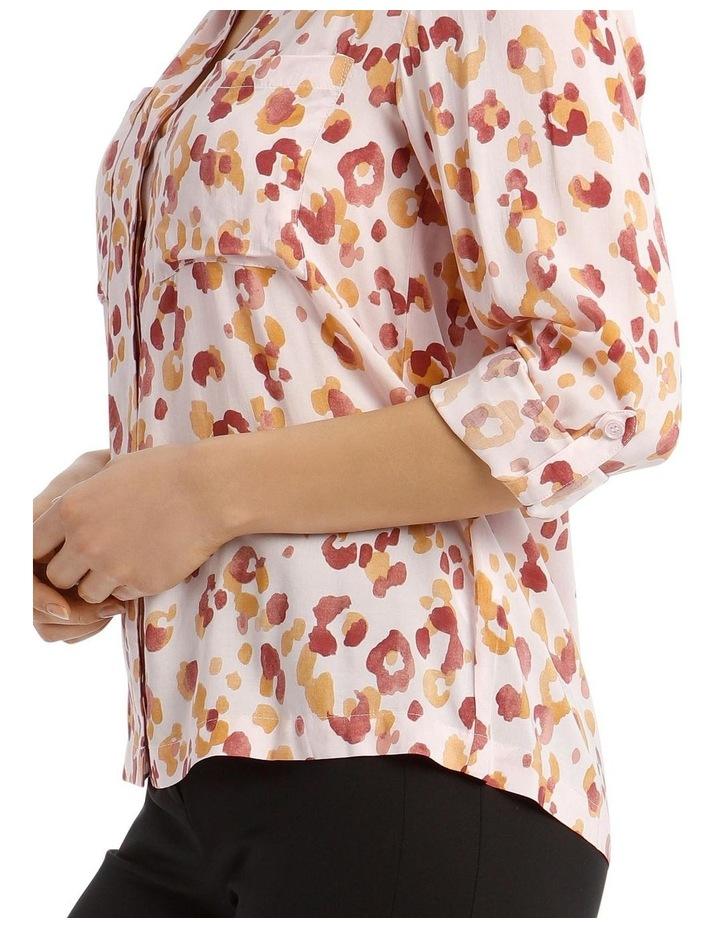 Collarless Double Pocket Shirt image 4