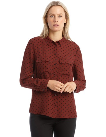 Investments Plus Size Christine Gold Label Non Iron Long Sleeve Jacquard Button Front Shirt | Dillard's