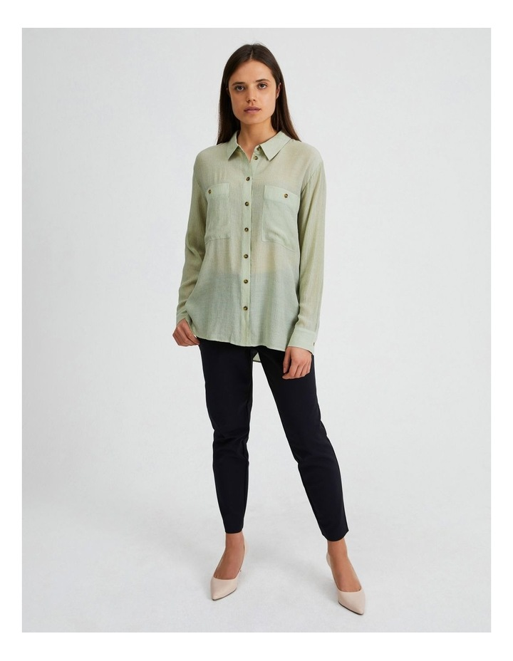 Long Sleeve Textured Utility Shirt image 1