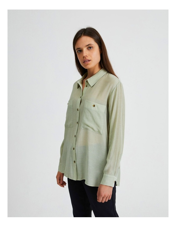 Long Sleeve Textured Utility Shirt image 2