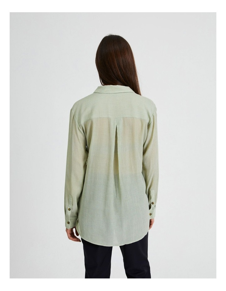Long Sleeve Textured Utility Shirt image 3