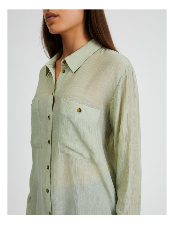 Long Sleeve Textured Utility Shirt image 5