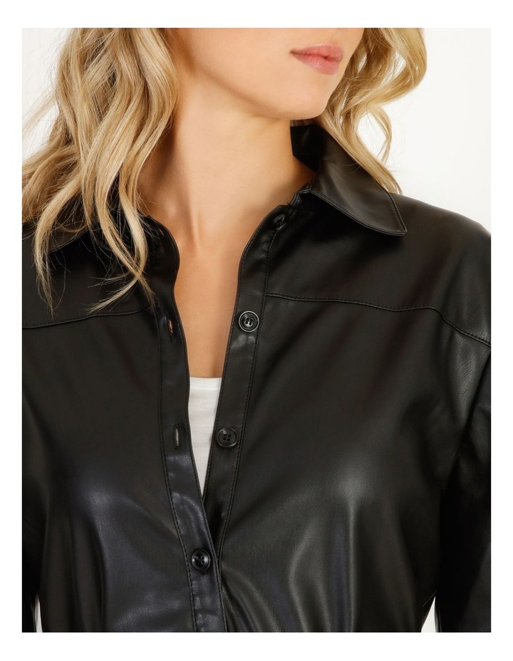 Vegan Leather Shirt image 4
