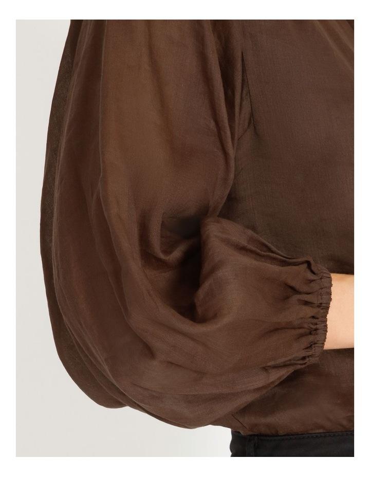 Rami Puff Sleeve Shirt image 4