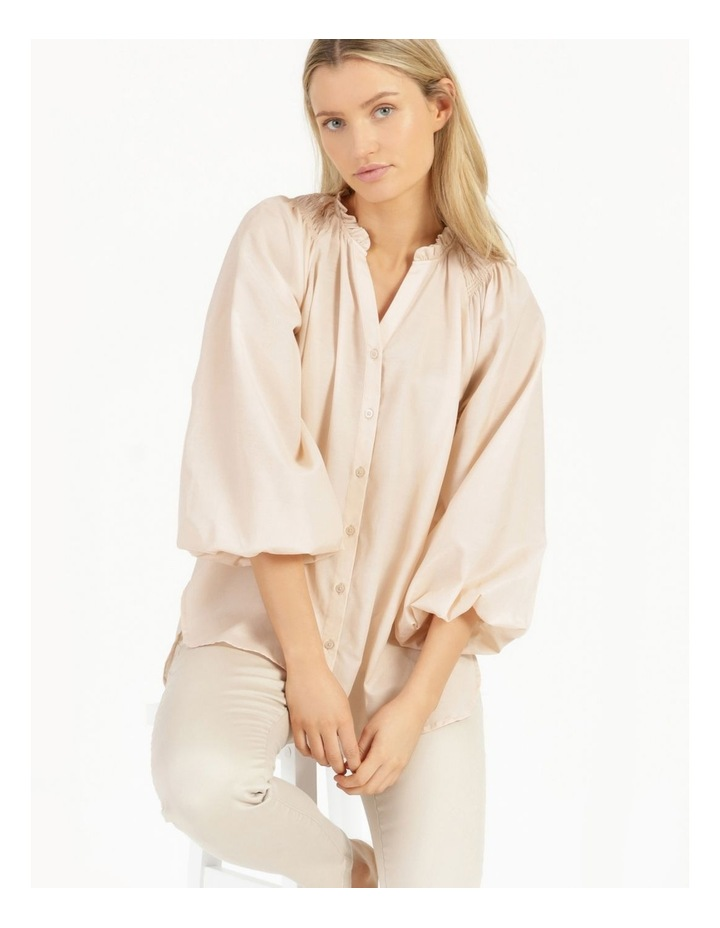 Shirred Shoulder Raglan Shirt image 2