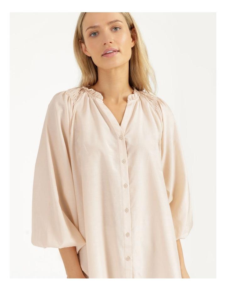 Shirred Shoulder Raglan Shirt image 3