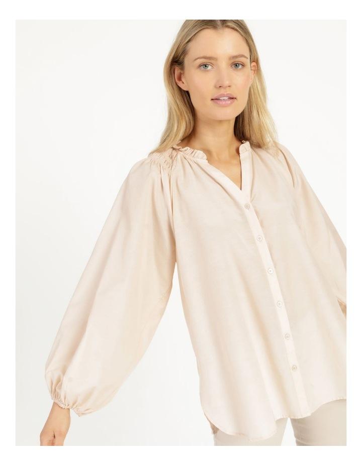 Shirred Shoulder Raglan Shirt image 6