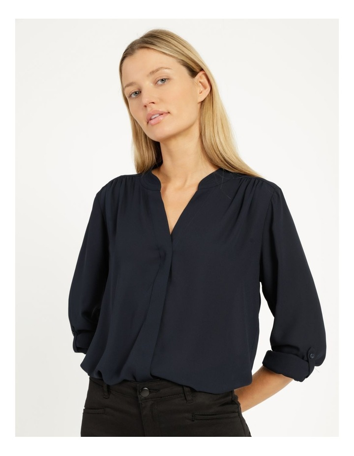 Top Stitched Shirt Navy image 1