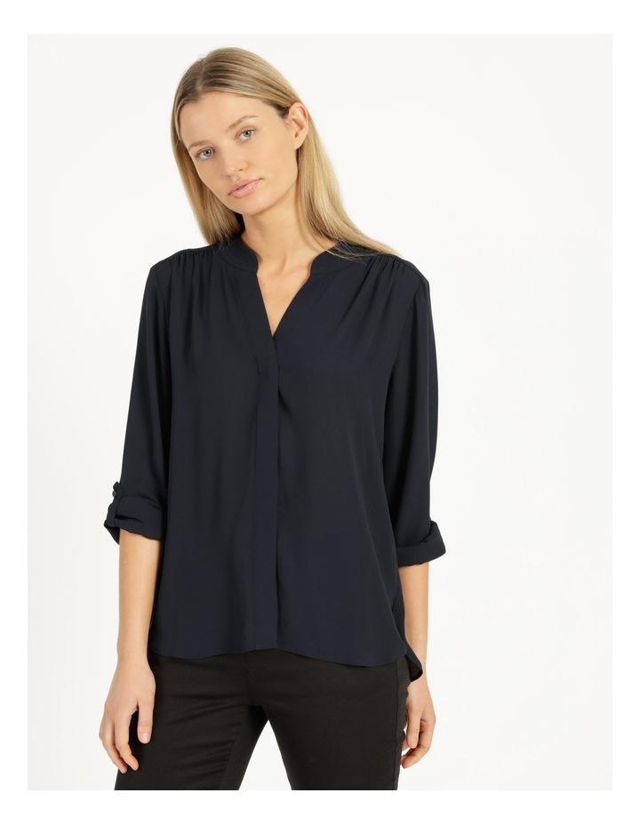 Top Stitched Shirt Navy image 2