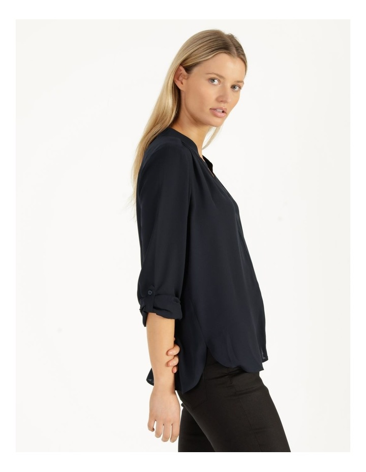 Top Stitched Shirt Navy image 3