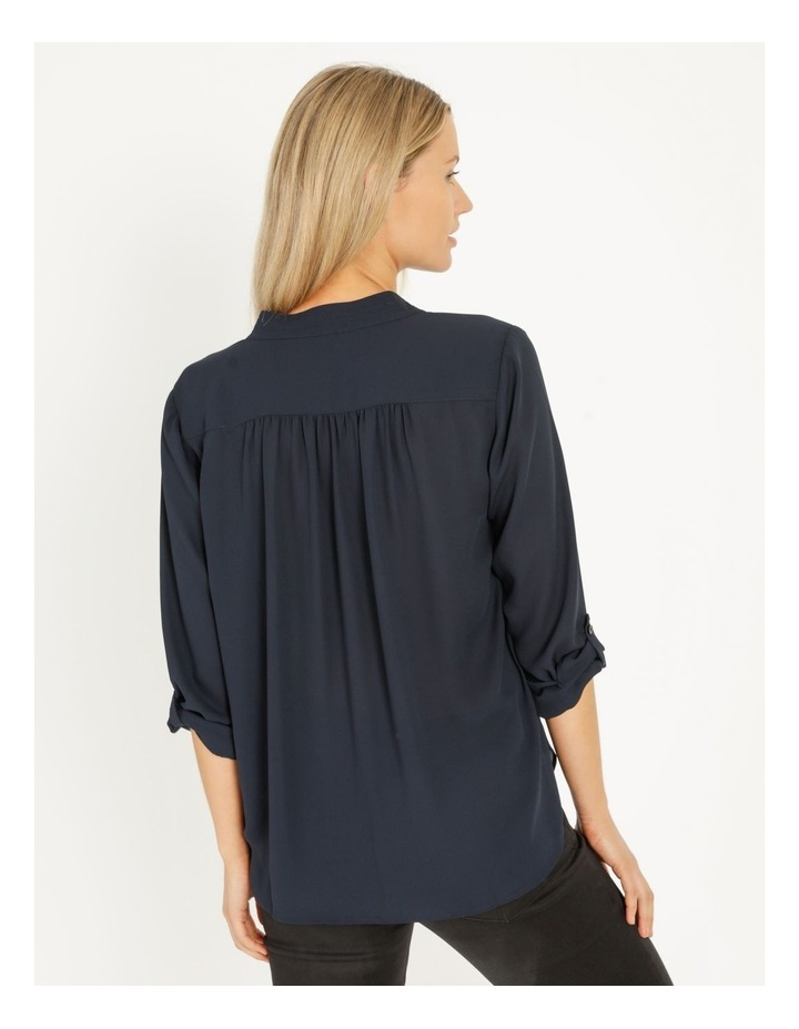 Top Stitched Shirt Navy image 4