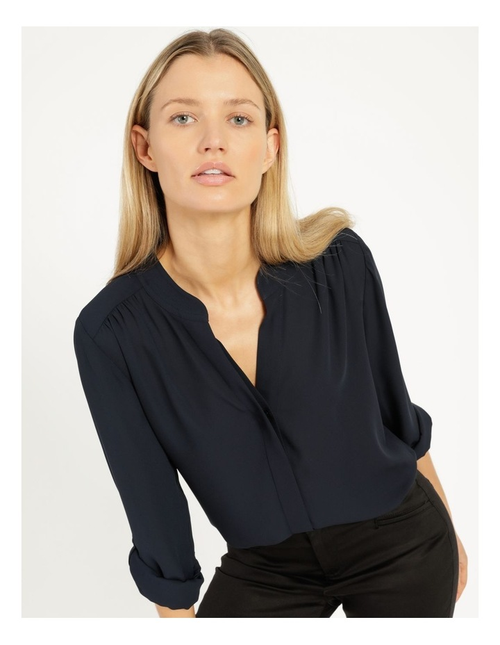 Top Stitched Shirt Navy image 5