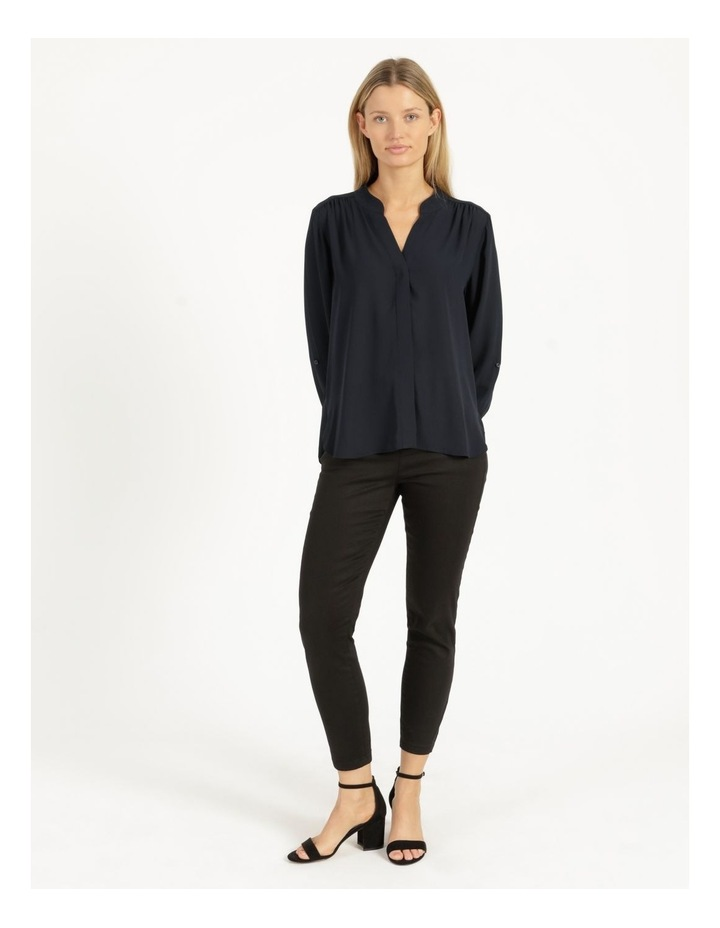 Top Stitched Shirt Navy image 6