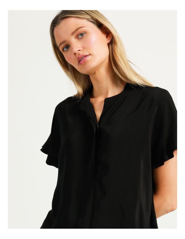 Frill Sleeve Shirt Black image 4