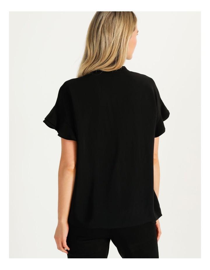 Frill Sleeve Shirt Black image 6