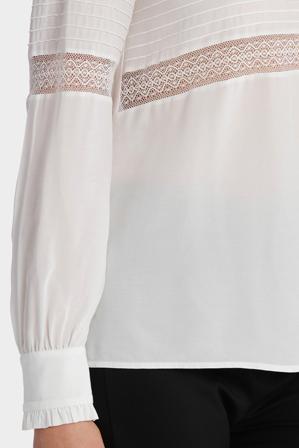 Basque - Lace Insert L/Slv Blouse