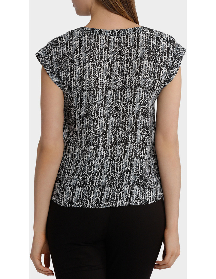 Etched Stripe Woven Boxy Top image 3