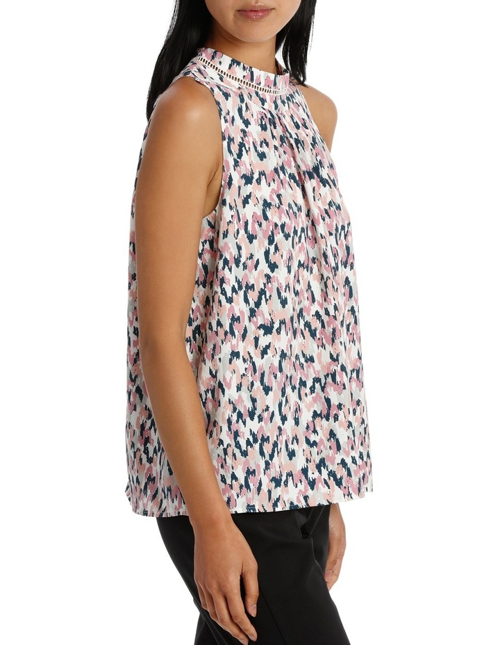 High Neck S/Less Floaty Top image 2