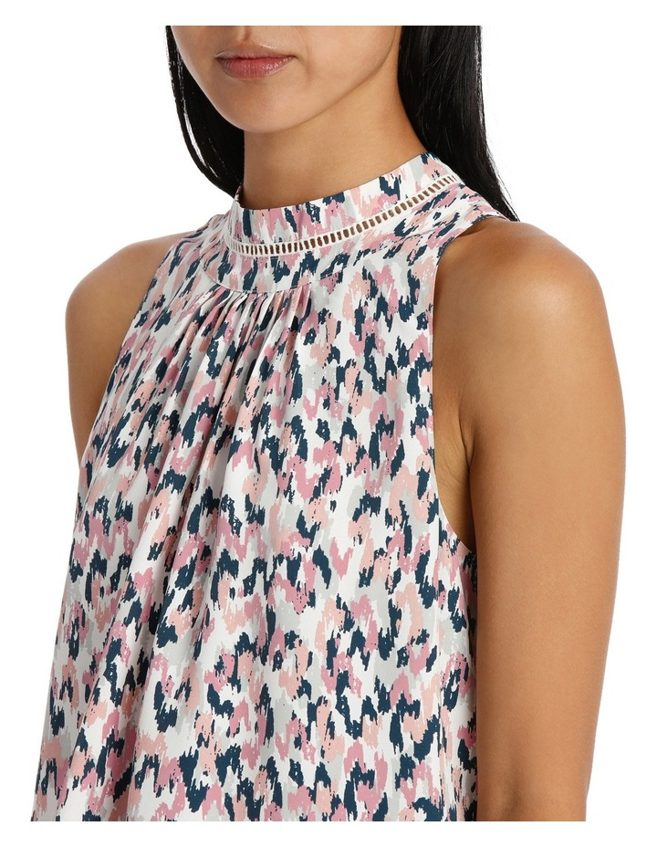 High Neck S/Less Floaty Top image 4