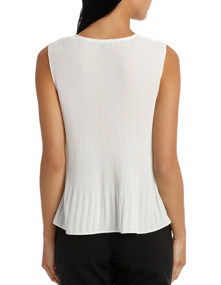 Fine Pleat V Neck Top image 3
