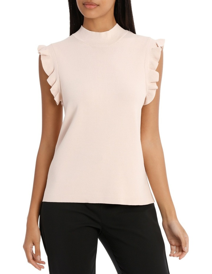 Frill Sleeve High Neck Knit image 1