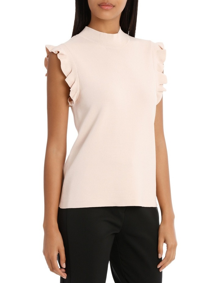 Frill Sleeve High Neck Knit image 2
