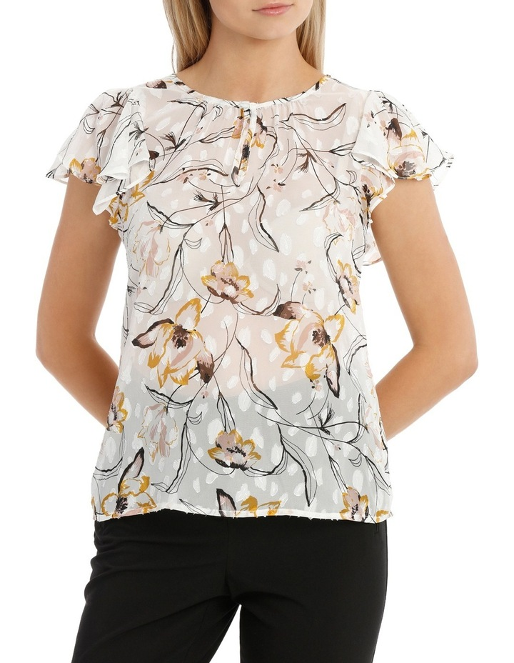 Wild Lily Printed Dobby Top image 1