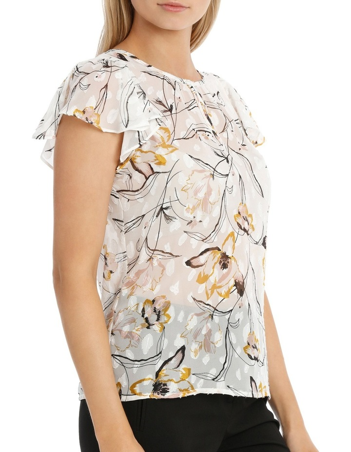 Wild Lily Printed Dobby Top image 2