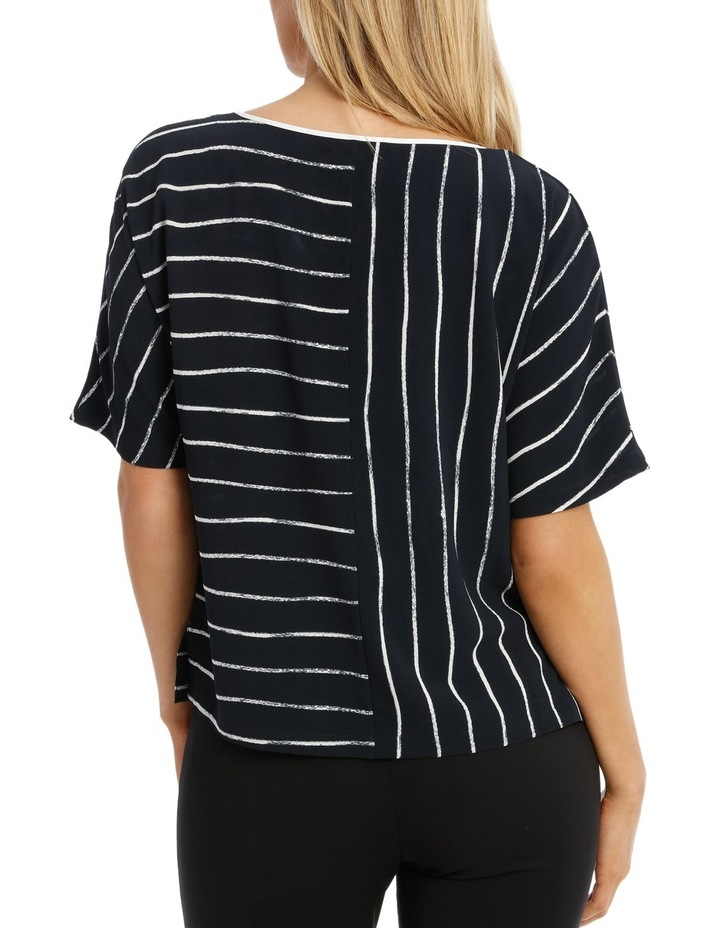 Piped Extended Sleeve Top Print image 3